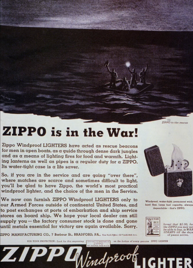 Zippo 2. Dünya Savaşı Afişi